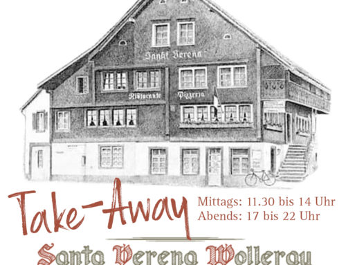 Ab morgen Mittwoch: Santa Verena Take-Away