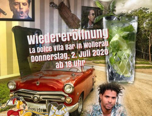 La Dolce Vita Bar in Wollerau: Wiedereröffnung am 2. Juli 2020