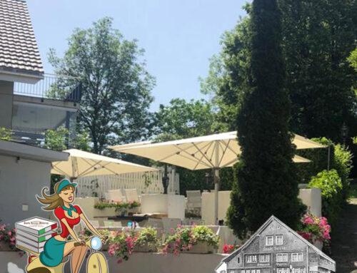 Geniessen Sie bei diesem heissen Wetter die Santa-Verena-Terrasse!