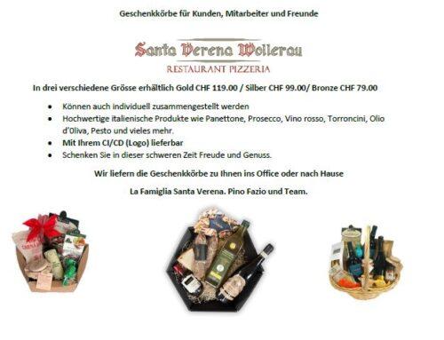 Mitarbeiter und Kundengeschenke im Santa Verena Wollerau: E' Natale voglio te come regalo.